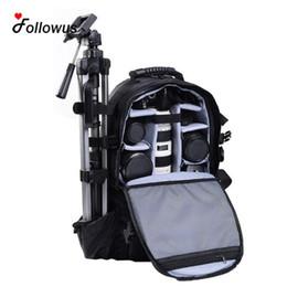 Wholesale dslr camera bag backpack - Wholesale- Multifunctional Black Deluxe Camera Backpack Bag Case Sony Canon Nikon DSLR SLR