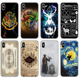 2019 iphone harry potter Harry Potter Phone Cases Protecteur TPU souple de Poudlard pour iPhone X XR XS Max 7/8 6s 5s Samsung Note9 Note8 S9 S8 Plus promotion iphone harry potter
