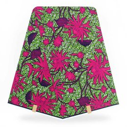 Wholesale super wax hollandais - High Quality Rose Pink African Super Hollandais Wax Fabric,100% Cotton Quilting Fabric For Dress Making