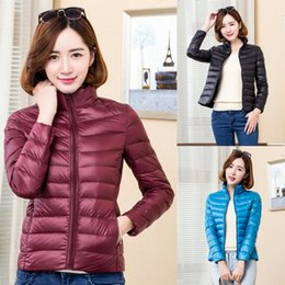 b9b52cd4871 Wholesale 2018 New Style Ultralight Down Coat White Duck Down 90% Woman  Designer Clothes Color 12 Size S-4XL Winter Jacket Women