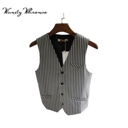 Wholesale Men Dress Vests Grey - 2018 New Arrival Dress Vests For Men Slim Fit Mens Suit Vest Male Waistcoat Gilet Homme Casual Sleeveless Formal Business Jacket