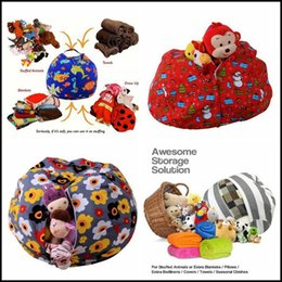 Wholesale Play Plush - 43 Colors 61cm Kids Storage Bean Bags Plush Toys Beanbag Chair Stuffed Room Mats Portable Clothes Storage Bag Baby Play Mat CCA8483 20pcs