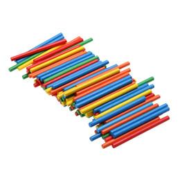 Apprentissage de l'école maternelle en Ligne-100 pcs Coloré Bambou Comptage Bâtons Mathématiques Montessori Jouets Aides À L'enseignement Comptage Rod Enfants D'âge préscolaire Math Jouet D'apprentissage
