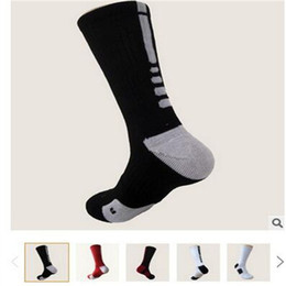 Wholesale Striped Terry Socks - USA Professional Elite Basketball Socks Long Knee Athletic Sport Socks Mens Fashion Compression Thermal Winter Socks Wholesales High Quality