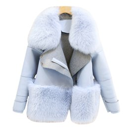 Wholesale Sheepskin Coats For Women - Fur & Faux Fur Coat For Women Denim Tops & Jacket Female Artificial Sheepskin Coats Fluffy Rabbit Fashion Online Shop Clothing