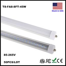 Wholesale Replacement Fluorescent Bulbs - FA8 LED Tube T8 2.4M 2400MM LED T8 Replacement Tubes Fluorescent Light Fixture 8ft Tube Light Cooler White FA8 8 Feet Bulb