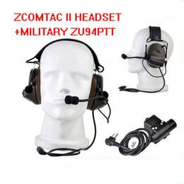 З-тактические наушники Peltor zComtac второй шум CancelingHeadset Z041(ФГ) с стандартной версии zU94 Z113 РТТ от Поставщики наушники для apple
