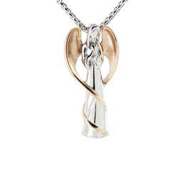 Ангел ожерелье кулон Мемориал кремация урна пепел ювелирные изделия розовое золото из нержавеющей стали сувенир подарок для женщин, мужчин держать человека / животное прах от