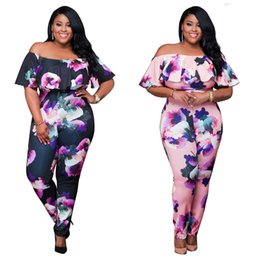 Wholesale Women Flower Blazer - Europe and the United States and the new flower printing hot conjoined personality suit sexy tight printed conjoined pants