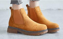 flat camurça botas mulheres Desconto Botas de tornozelo das mulheres moda casual sapatos de camurça elástico Estilo clássico de repopular suded apartamentos para as mulheres zywb10