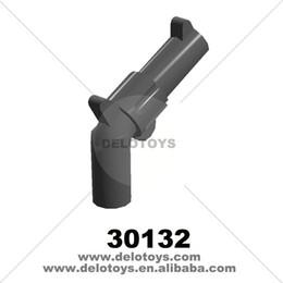 Wholesale Plastic Revolver - Plastic building blocks PARTS Minifig, Weapon Gun, Pistol Revolver - Large Barrel (NO.30132) 10PCS PACK