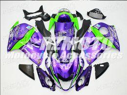 Abs plástico para hayabusa online-Nuevo Hot plástico ABS Kits de Carenado moto 100% Fit para suzuki GSXR1300 Hayabusa 08 09 10 11 12 13 14 15 GSX-R1300 Purple F16