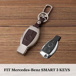 2019 boîtier de clé à distance de voiture toyota Zinc cuir à distance porte-clés étui pour Mercedes Benz W203 W204 W211 CLK C180 E200