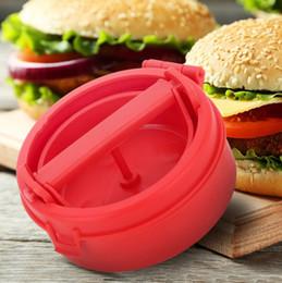 Formpressmaschine online-Kunststoff Gefüllte Burger Pressen Hamburger Grill BBQ Patty Maker Form Form DIY Fleischproduktion Druck Maschine Küchenhelfer