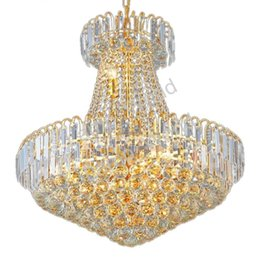 Wholesale royal irons - Royal Empire Silver Crystal chandelier Light French Golden Crystal Hanging Light Diameter 60cm