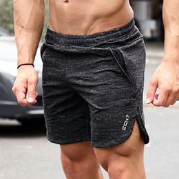 Shorts da praia dos homens xxl on-line-Shorts de corrida dos homens dos homens de fitness crossfit calções de treino de treino sweatpants calças curtas mens ginásio dry fit praias