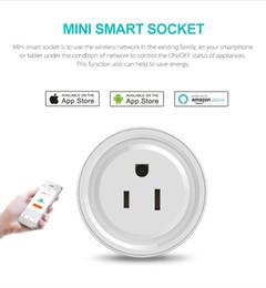 Mini Smart Home WIFI Conectores de alimentación compatibles con Alexa Sonoff Wifi Socket Outlet Automatización Aplicación de teléfono Interruptor de tiempo Control remoto Control de EE. UU. desde fabricantes