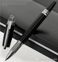 Bolas de resina de cristal online-Nueva llegada Blakd resina de diseño limitado bola de bolígrafo Bolígrafo / Bolígrafo con tapa de cristal Papelería escolar suministros escolares escritura marca pluma