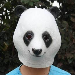 engraçados do dia das bruxas Desconto Panda Máscara Completa para a Véspera de Natal Partido Cosplay Máscaras de Cabeça de Látex Animal Máscara de Máscara de Halloween Engraçado