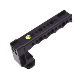 suportes em forma de c Desconto VELEDGE Hot Shoe Estabilizador Hand Grip com Múltipla 1/4 e 3/8 Orifício Do Parafuso para Câmera Sem Espelho A7 A7S2 A7M3 X-T2