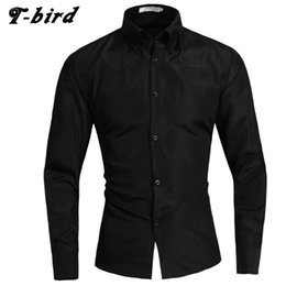 Wholesale Model T Male - T-Bird 2017 New Fashion Brand Men Shirt Mesh Shirt Long Sleeve Slim Fit Camisa Masculina Casual Male Shirts Model White 5XL