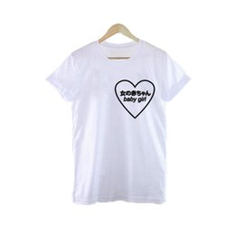 b14258bcc Women's Tee Baby Girl Heart Japanese Harajuku Logo T Shirt Tumblr Women  Novelty Top Punk Tee Shirt Fangirl Gifts Dropshipping S - 3xl