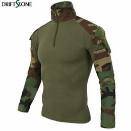 2019 paintball camuffamento T-shirt mimetica tattica US Army Combat t-shirt Cargo Woodland Paintball Militar Abbigliamento tattico paintball camuffamento economici