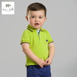 Wholesale Brand Bella - Db2636 Dave Bella Summer Baby Boys Cotton Polo Shirts Infant Clothes Toddle Polo Kids Tops Children Cotton Polo Shirt