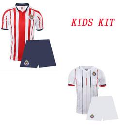 4b0ea98e3f2 2018 19 Chivas Kid's Soccer Jersey and Shorts Youth Thai Quality Football  Sets Children Sportswear Boy's Soccer Suits sports uniform