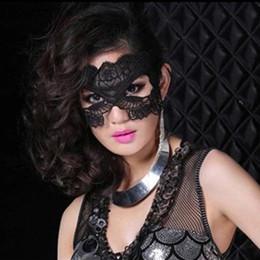 2019 niedliche lippenstift-designs 1 STÜCK Schwarz Sexy Spitze Maske Ausschnitt Augenmaske für Halloween Maskerade Party Kostüm Kostüm