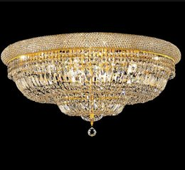 Wholesale Empire Lamps - Phube Lighting Empire Gold Crystal Ceiling Light Luxury K9 Crystal Ceiling Lamp Lighting Lustre Free Shipping