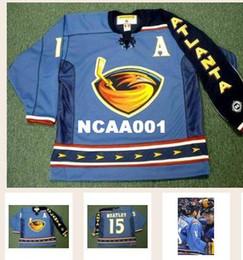 bcfa1ec865f Real Men real Full embroidery #15 DANY HEATLEY Atlanta Thrashers 2003 Hockey  Jersey or custom any name or number Jersey