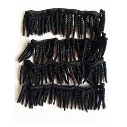 Afroamerikanisches brasilianisches Haar spinnt neue kurze Art 6-12inch schöne schwarze indische remy Haarverlängerungen 50g / pc 6pc / lot von Fabrikanten
