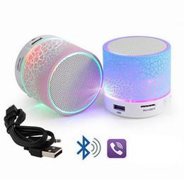 Canada LED Portable Mini Bluetooth Haut-parleurs Portable Super Bass Perfect Car Speaker Sans fil Portable Mini Stéréo EEA137 50pcs Offre