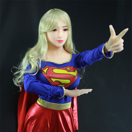 Wholesale Japanese Girl Sex Toys - 2017 Adult New 165cm Top Quality European Blonde Girl Real Silicone Sex Dolls With Skeleton Full Size Love Realistic Vagina Toys