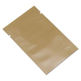 Sacos de embalagem laranja on-line-200 pçs / lote flat top lustroso saco de pacote de folha de alumínio orange mylar pó de café lanche nozes vácuo selo embalagem bolsa de varejo saco