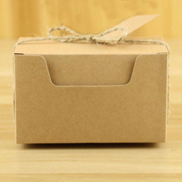 decorazione della scatola del regalo Sconti 50 pezzi di lusso Kraft Paper Gift Box Natale bambini regalo Candy Box Vintage Kraft Paper Candy Decoration Boxs Festival Party Supplie