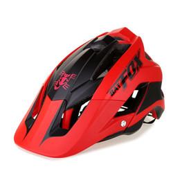 Wholesale fox bat - 2018 new ultra-light bike helmet high quality mtb bike helmet overall molding  ciclismo 7 colour BAT FOX DH AM