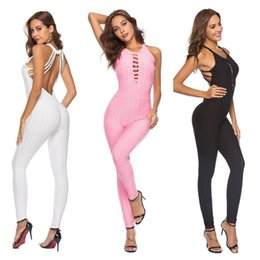 d2a271bcf9 2018 NEW Tight Yoga Jumpsuit Sleeveless Backless Hollow Out Sport Romper  Playsuit