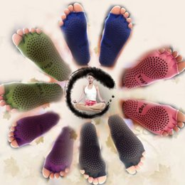 Wholesale yoga toe socks black - Adults 5 Toes Sock Cotton Deodorant Foot Massage Yoga Socks For Men And Women Sports Toed Stockings Black 7 35qz B