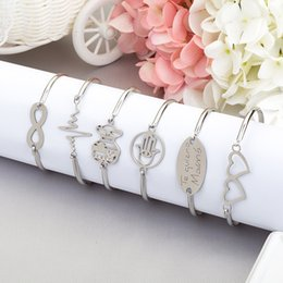 Wholesale infinity friends bracelet - Tree Anchor Leaf Cross Heart Family infinity Friend Bangle real gold silver fashion new cuff Bangle bracelet jewelry 12 styles for choose
