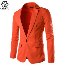 Wholesale White Linen Suit Jacket - 2017 New Arrival Men Blazer Men'S Suit Linen Blazers Suits Men Coat Slim Veste Homme 8 Color Suit jacket M-XXL