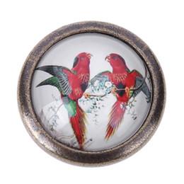 Identificador de gabinete vintage on-line-Liga de Zinco Do Vintage Lidar Com Pássaro Retro Maçaneta Da Cozinha Armário Armário Gaveta Do Armário Pull Wardrobe Handle Único Furo