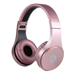 Wholesale wireless bluetooth gaming headsets - S55 Wireless Headphone Foldable Bluetooth Gaming Headset Stereo Music With Mic TF Card Headband Earphones Retail Box Better Bluedio Marshall