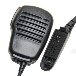 icom uhf radios Rabatt Regendicht Schulter Fern Lautsprecher-Mikrofon-PTT für Motorola GP328 GP338 GP340 GP360 GP380 GP640 GP680 GP1280 Two Way Radio