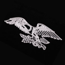 Wholesale photos wings - 135*65mm Cusomized Eagle Wing Embossing Template Carbon Steel Cutting Dies Stencils DIY Scrapbooking Card Album Photo Craft