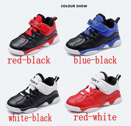 Wholesale Cheap Dhl Shoes - Hot sell Cheap Children Athletic Retro Boys Sneakers Youth Kids Sports Basketball Sneakers Shoes warm Non-slip high quality free DHL