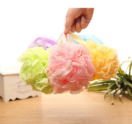 Wholesale Ball Bath Rubbing - Thickening Lace Bathing Ball Home Lovely Large Rubbing Bath Ball Children Bath Flower 5 Colors Optional
