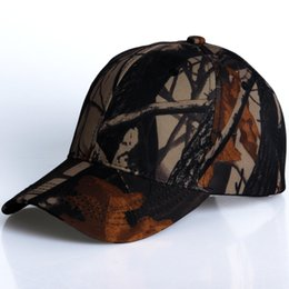 Wholesale Camo For Women - 4 styles Camouflage snapback polyester cap blank flat camo baseball cap with no embroidery mens cap and hat for men and women