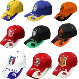 Wholesale Nationals Hats - 2018 Russia World Cup fans ball hats snapback National Teams caps hats sports ball caps for Brazil France Italy Argentine
